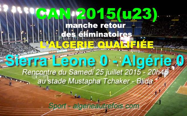 CCAN 2015 (U23)  - stade-blida