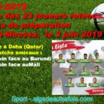 CAN-2019 Algérie : La liste des joueurs retenus dévoilée.